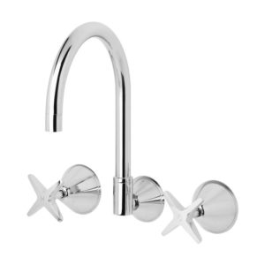 Ivy Wall Sink Set Chrome