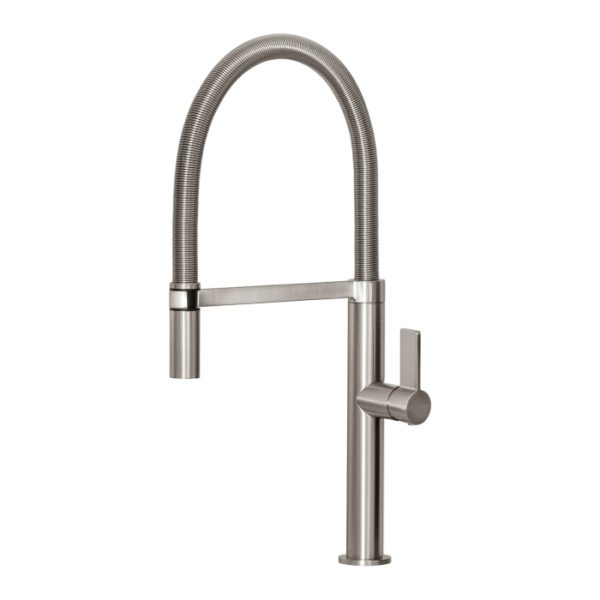 Prize Flexible Coil Sink Mixer Brushed Nickel