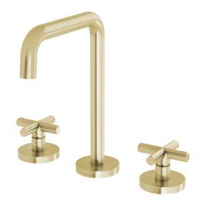 Vivid Slimline Plus Basin Set Brushed Brass