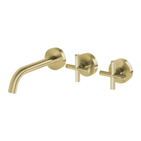 Vivid Slimline Plus Wall Basin Bath Outlet Brushed Brass