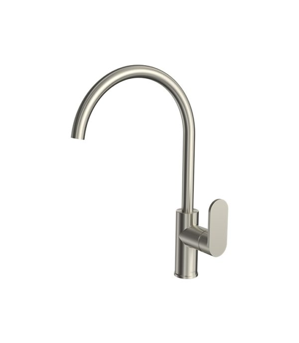 Elli Sink Mixer Round Spout Brushed Nickel
