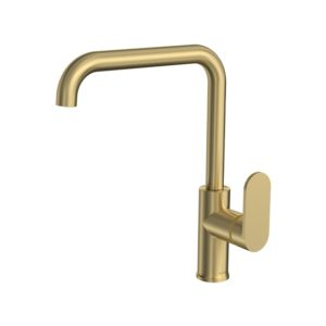 Elli Sink Mixer Square Spout Brushed Brass