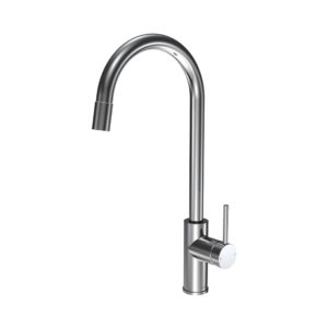 Envy Kitchen Mixer Round Spout Pull Out Spray Chrome