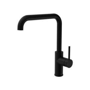 Envy Kitchen Mixer Square Spout Matt Black