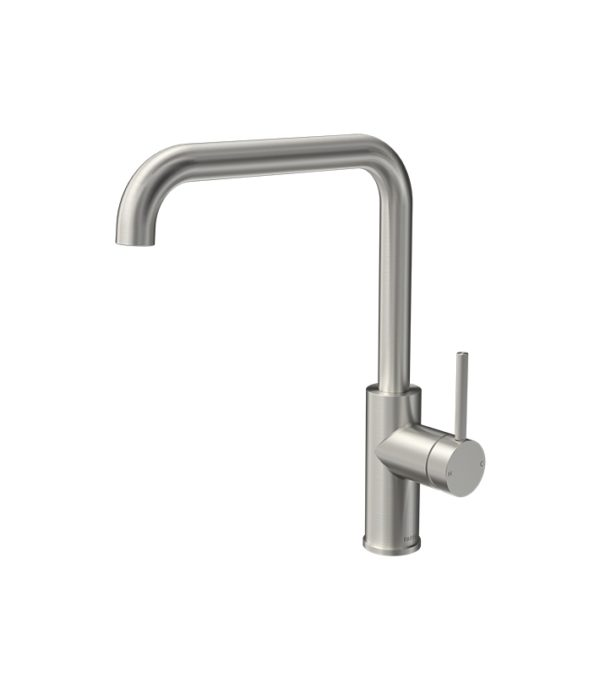 Envy Kitchen Mixer Square Spout Brushed Nickel