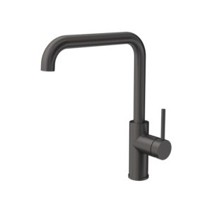 Envy Kitchen Mixer Square Spout Gun Metal