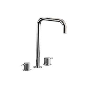Tondo Basin/Bath Hob Set Square Spout