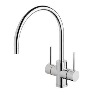 Vivid Slimline Twin Handle Sink Mixer