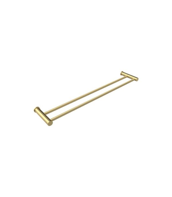 Envy 600mm Double Towel Rail Brushed Brass
