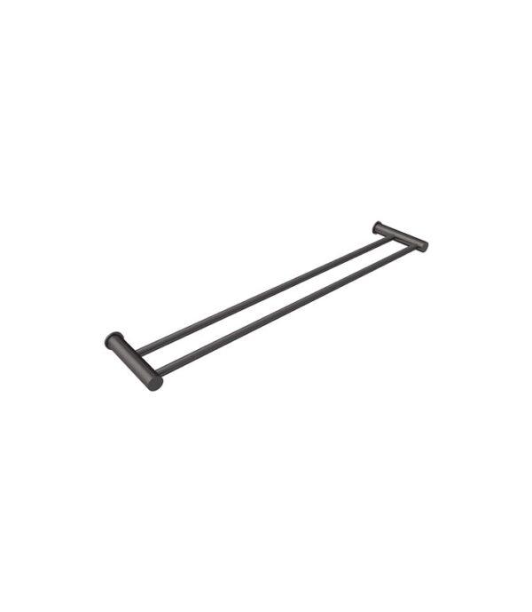Envy 600mm Double Towel Rail Gun Metal