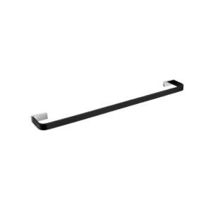 Inis Single Towel Rail 800mm Black Chrome