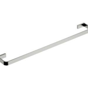 Inis Single Towel Rail 800mm Brushed Nickel