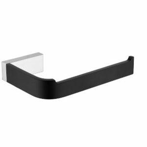 Inis Toilet Roll Holder Black Chrome