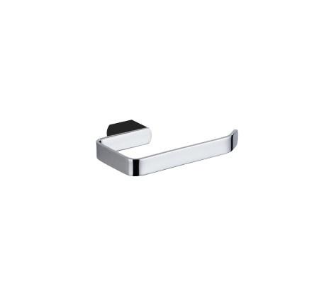Zoya Toilet Roll Holder Chrome Black
