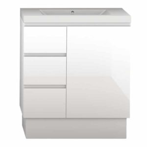Forme LH 750mm Mont Albert Vanity Poly Marble Top White