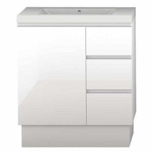 Forme Mont Albert Vanity 750mm Polymarble Top White FS RH