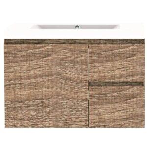 Forme RH 750mm Mont Albert Wall Vanity Walnut Poly Marble