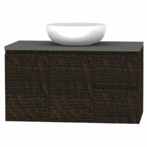 Forme RH 900mm Mont Albert Wall Vanity Dark Chocolate Stone and Atom Basin