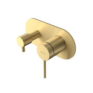 Envy II Wall Mixer 2 Way Diverter Bath Shower Brushed Brass